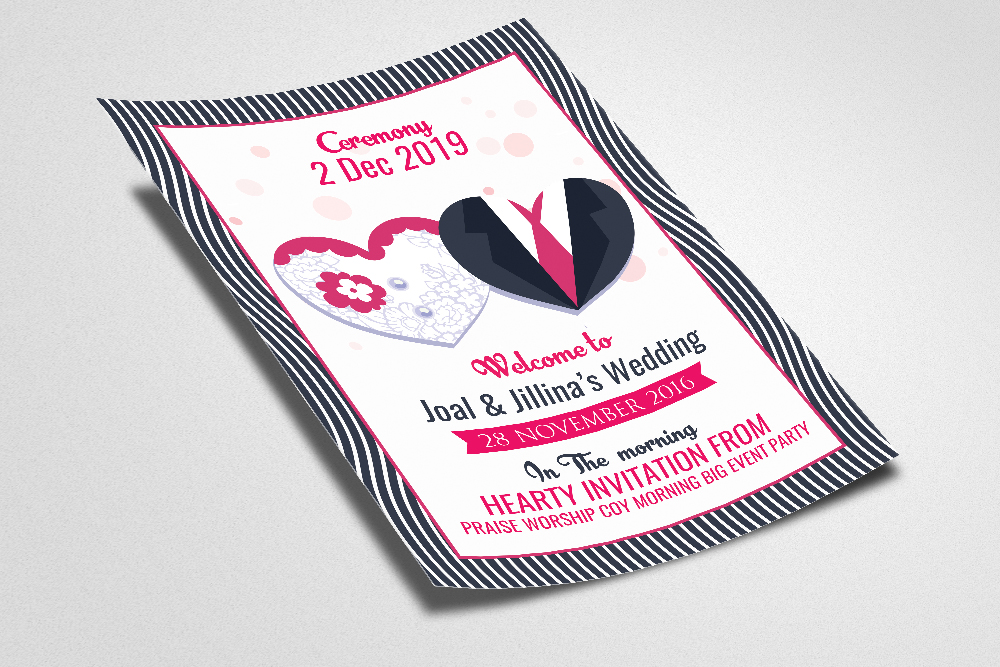 Wedding Ceremony Invitation Flyer Template example image 2