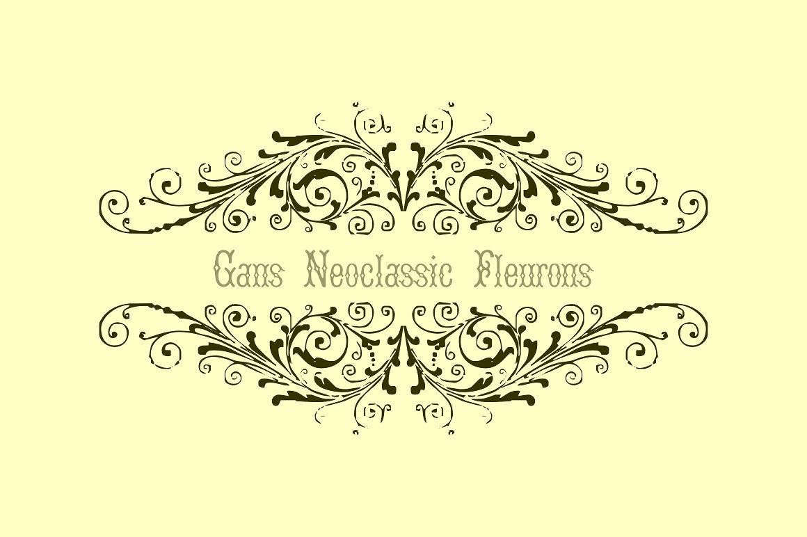Gans Neoclassic Fleurons example image 3