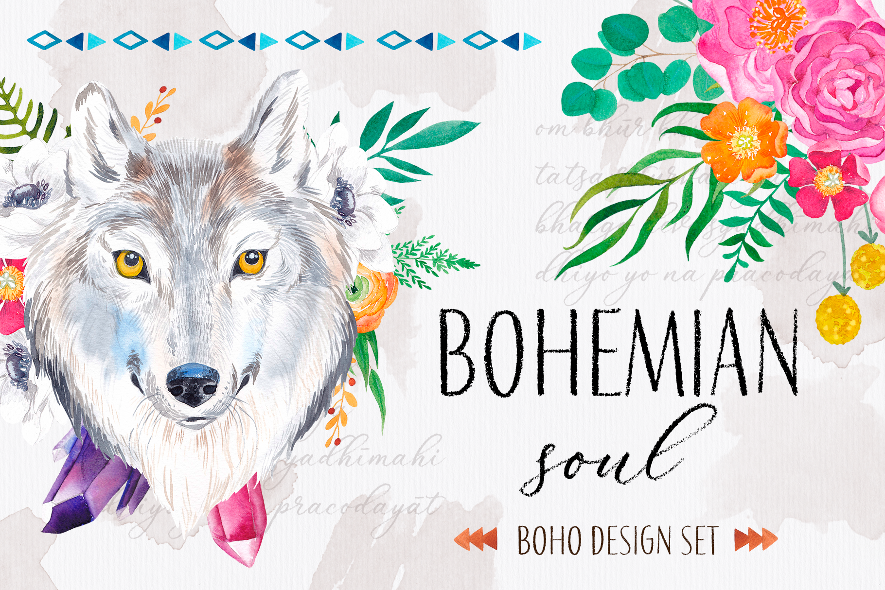 Bohemian soul - boho design set example image 1