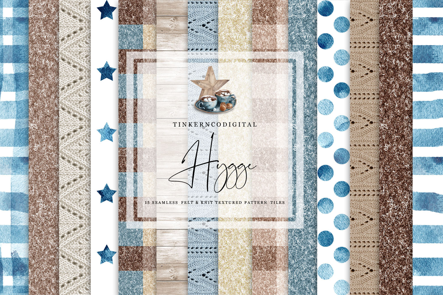 Hygge Clipart and Seamless Pattern Paper Sublimation designs example image 3