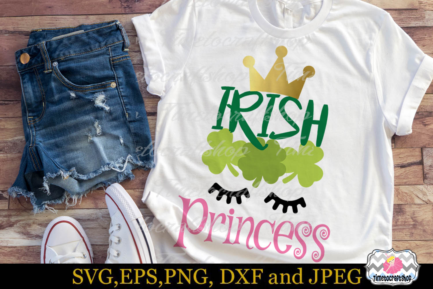 SVG, Dxf, Eps & Png St Patrick's Day Irish Princess example image 1