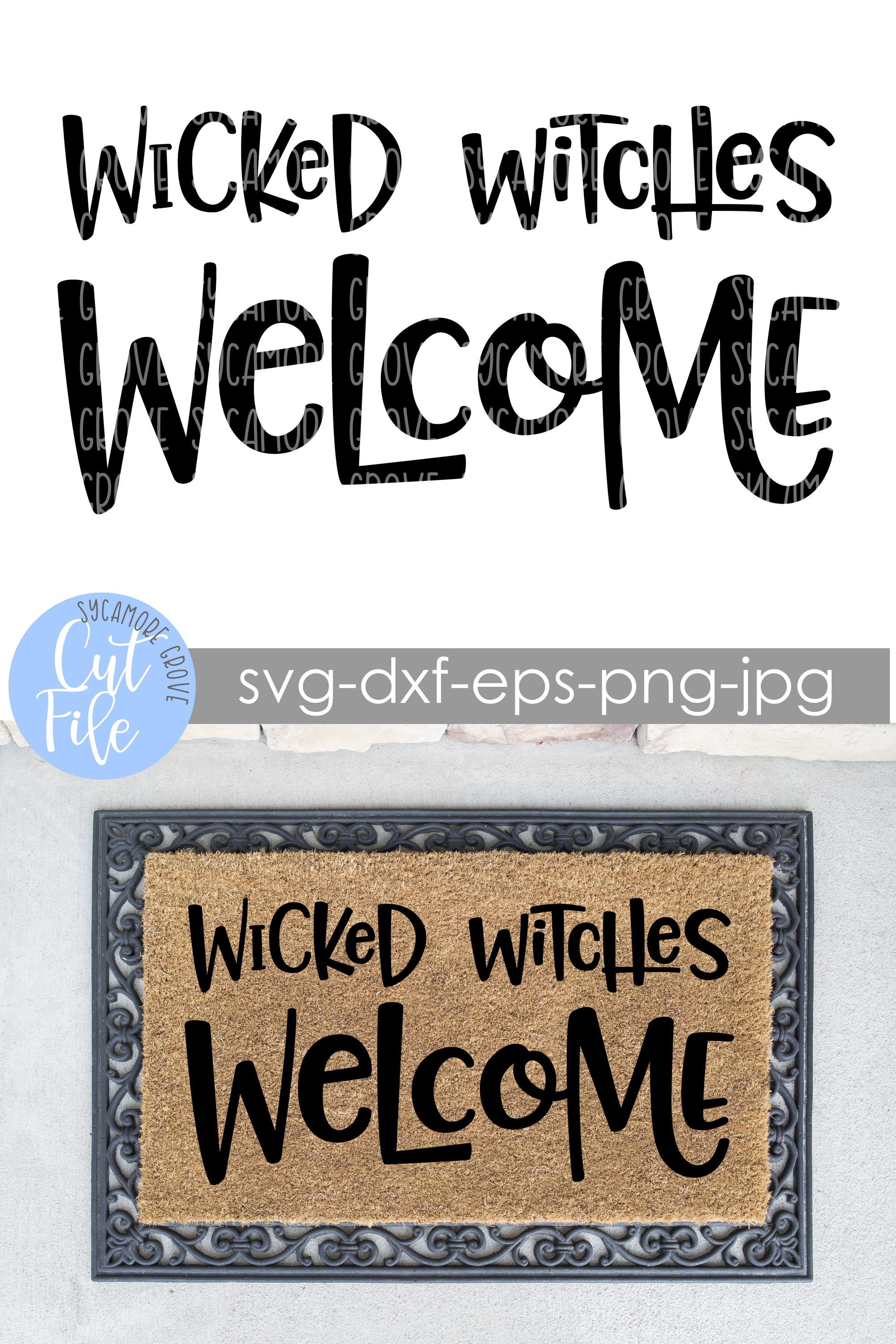 Wicked Witches Welcome | Halloween Doormat | SVG Cut File example image 3