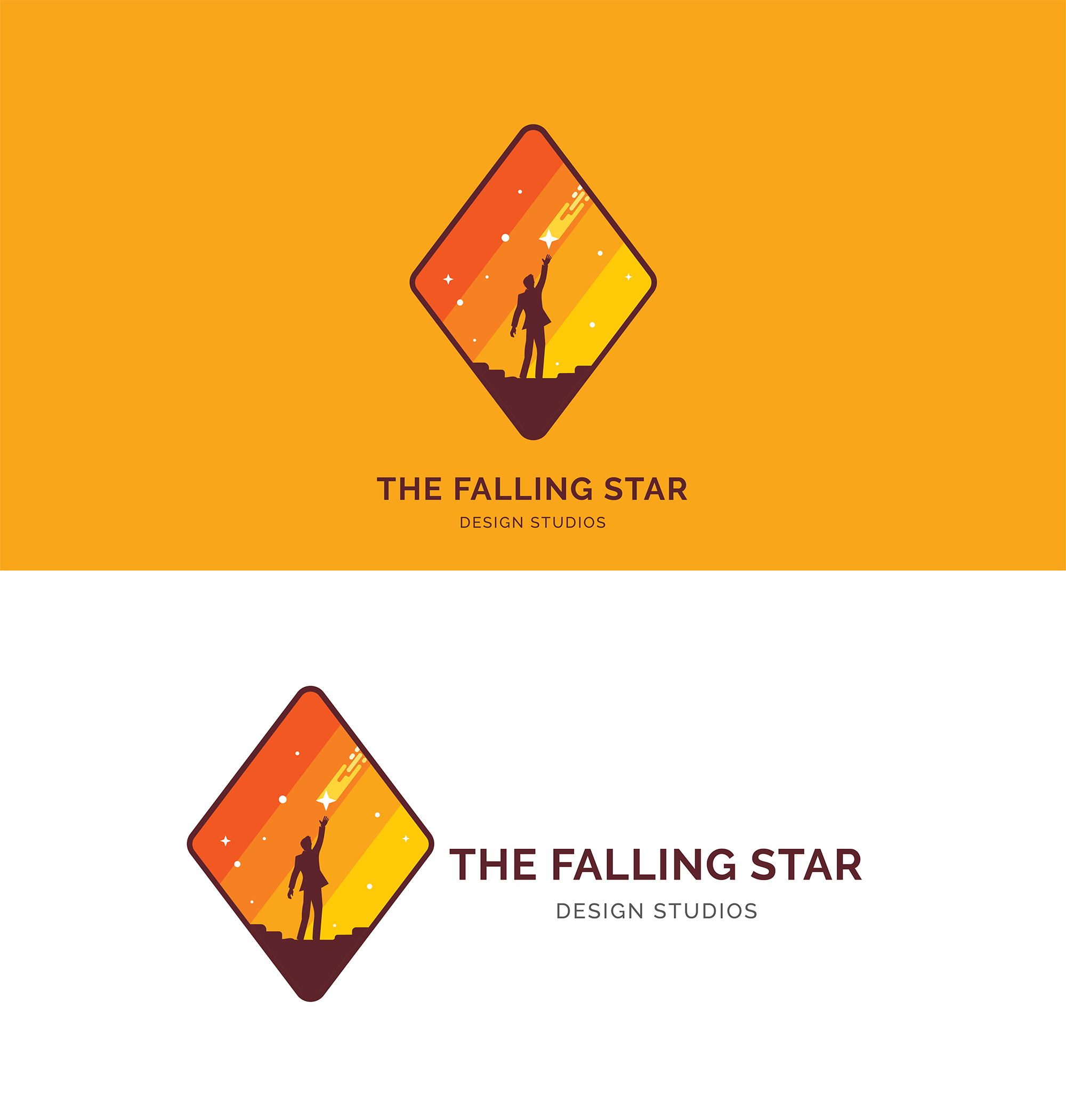Men Catch a Falling Star Logo example image 3