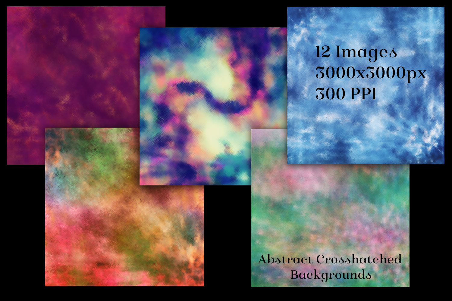 Abstract Crosshatched Backgrounds - 12 Image Textures Set example image 2