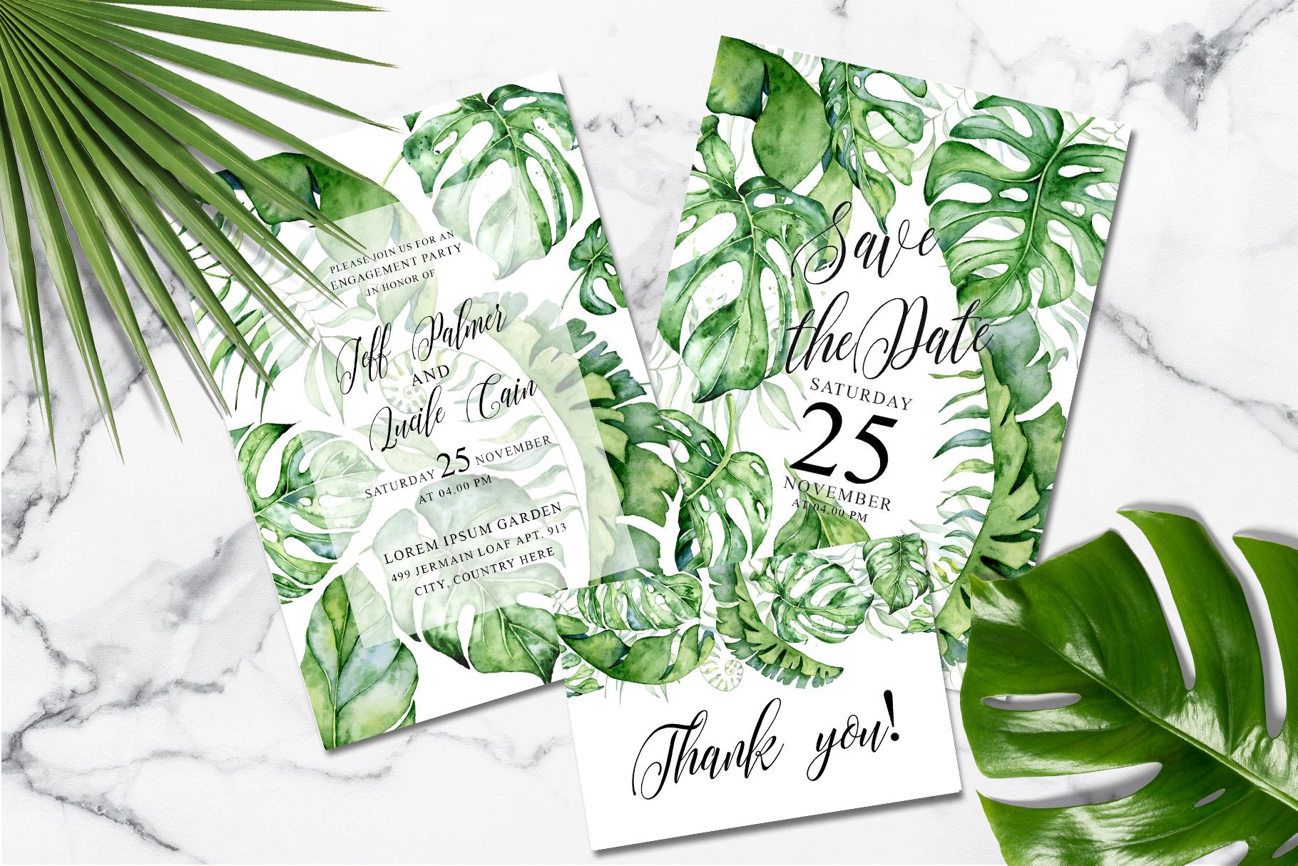 Tropical Greenery Wedding Suit example image 2