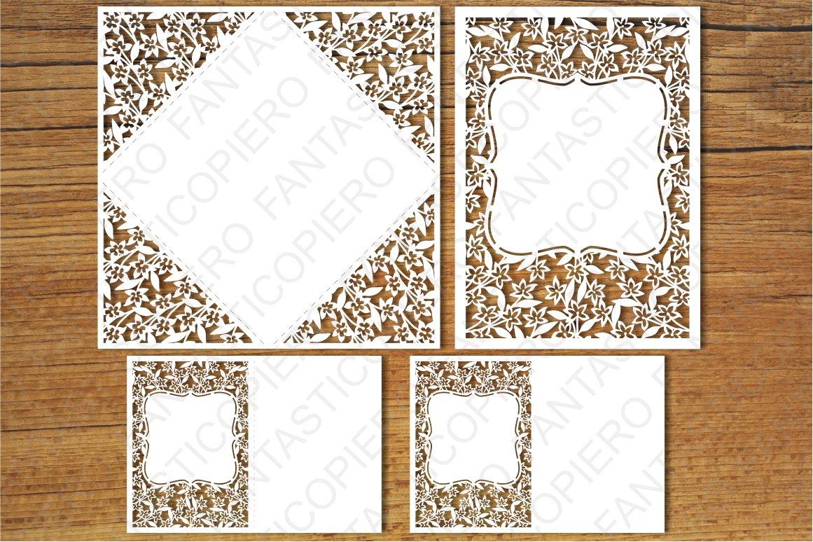 Wedding Invitation set6, Greeting Card SVG files