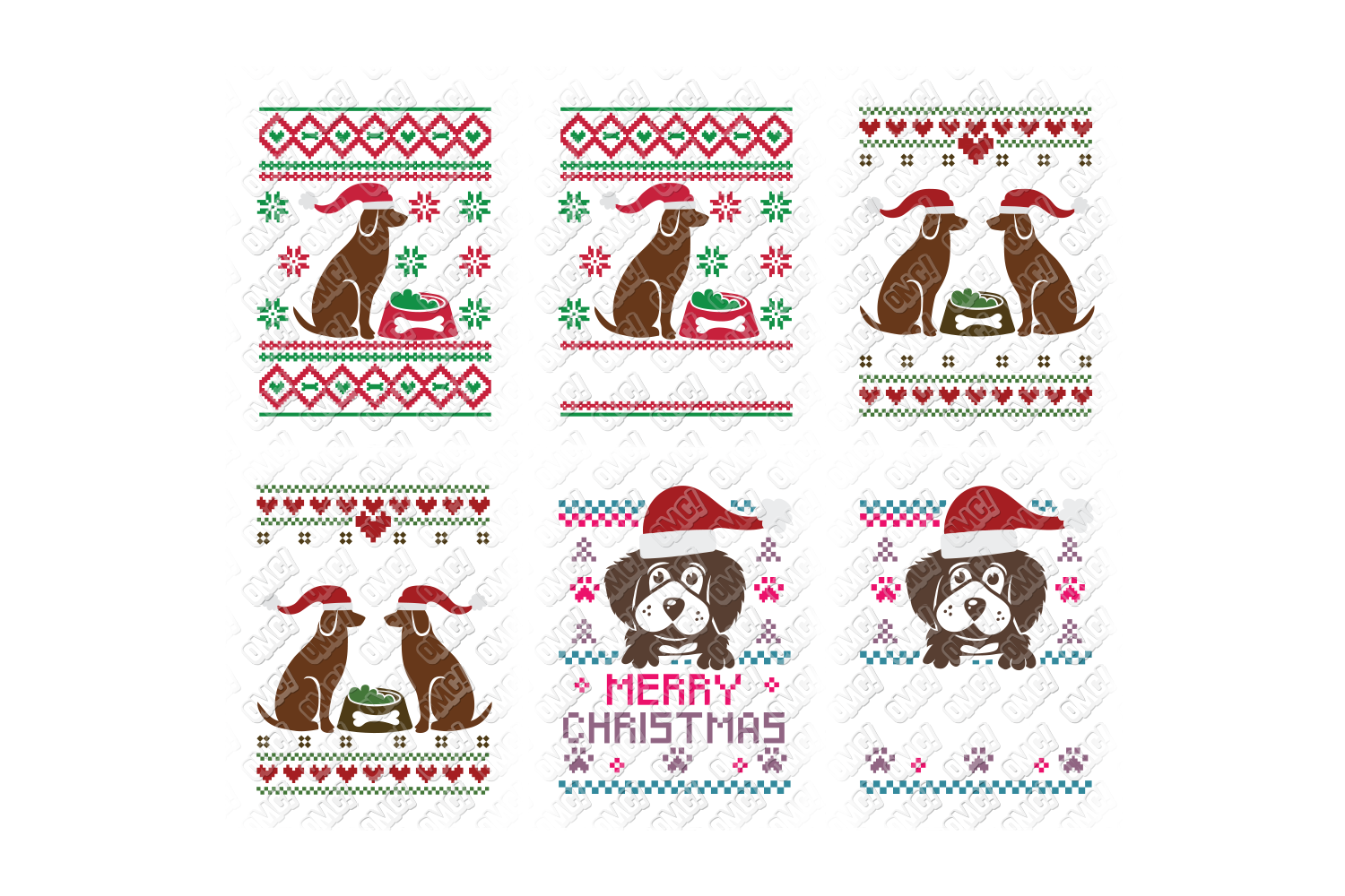 Dog Ugly Christmas SVG Template in SVG, DXF, PNG, EPS, JPG example image 2