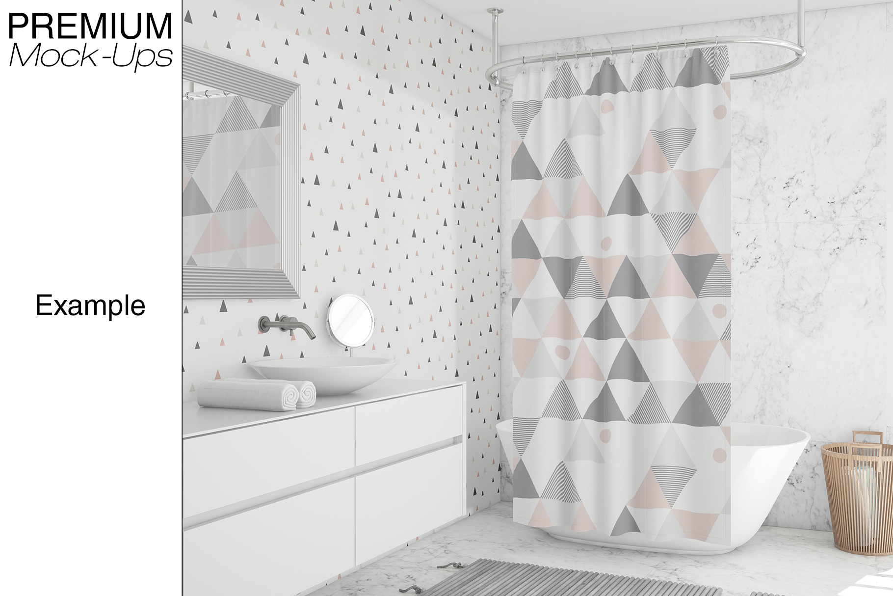 Shower Curtain Mockup Pack example image 5