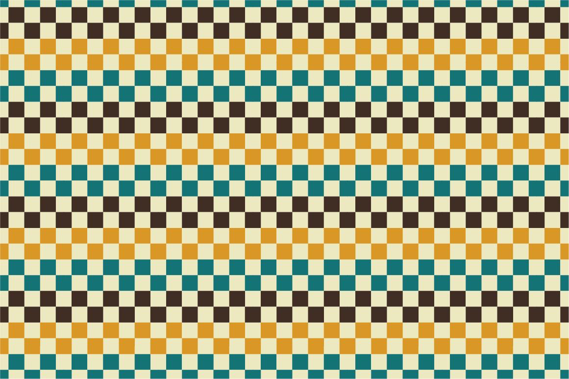 Retro patterns - seamless. example image 3