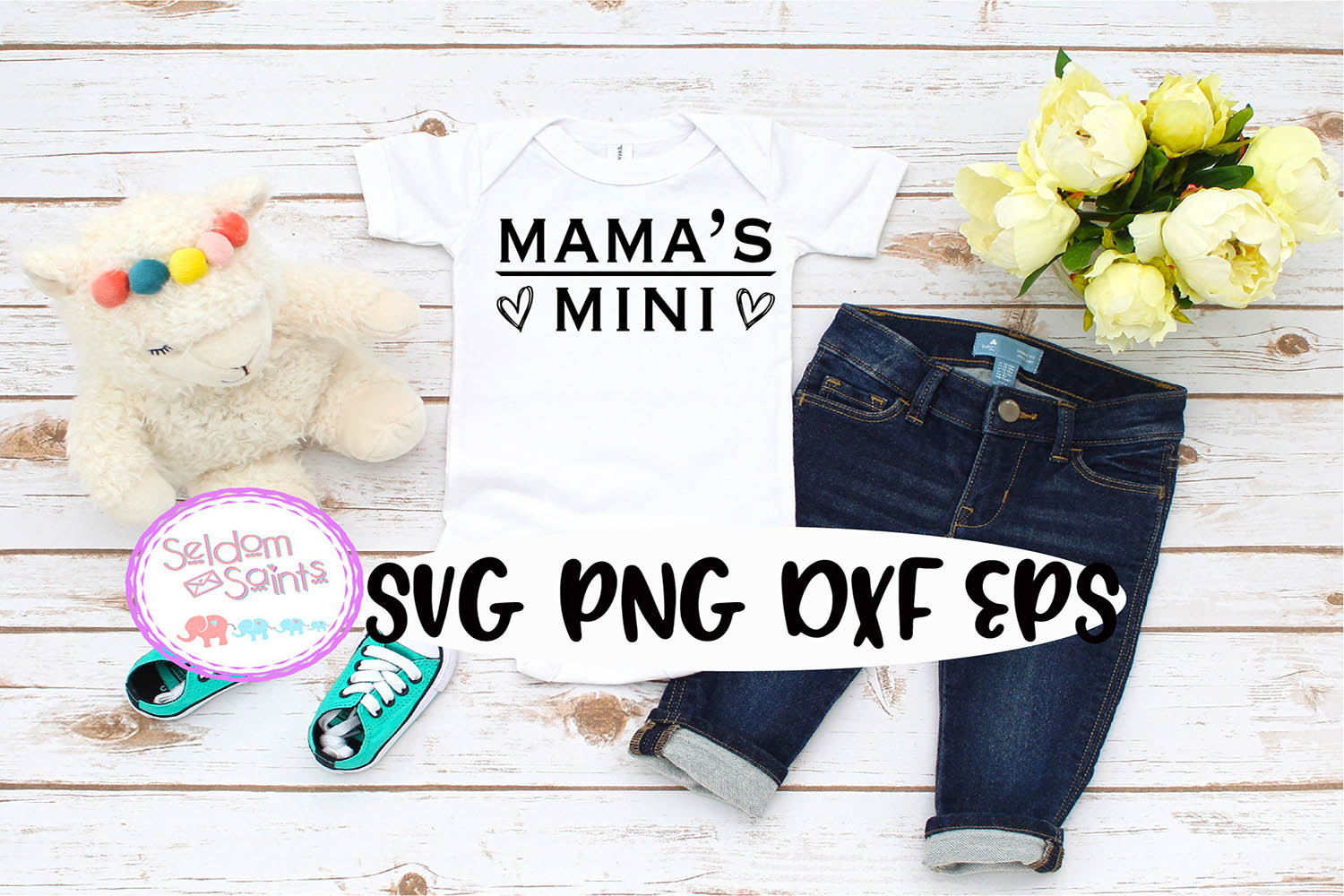 Mama's Mini SVG PNG EPS DXF example image 1