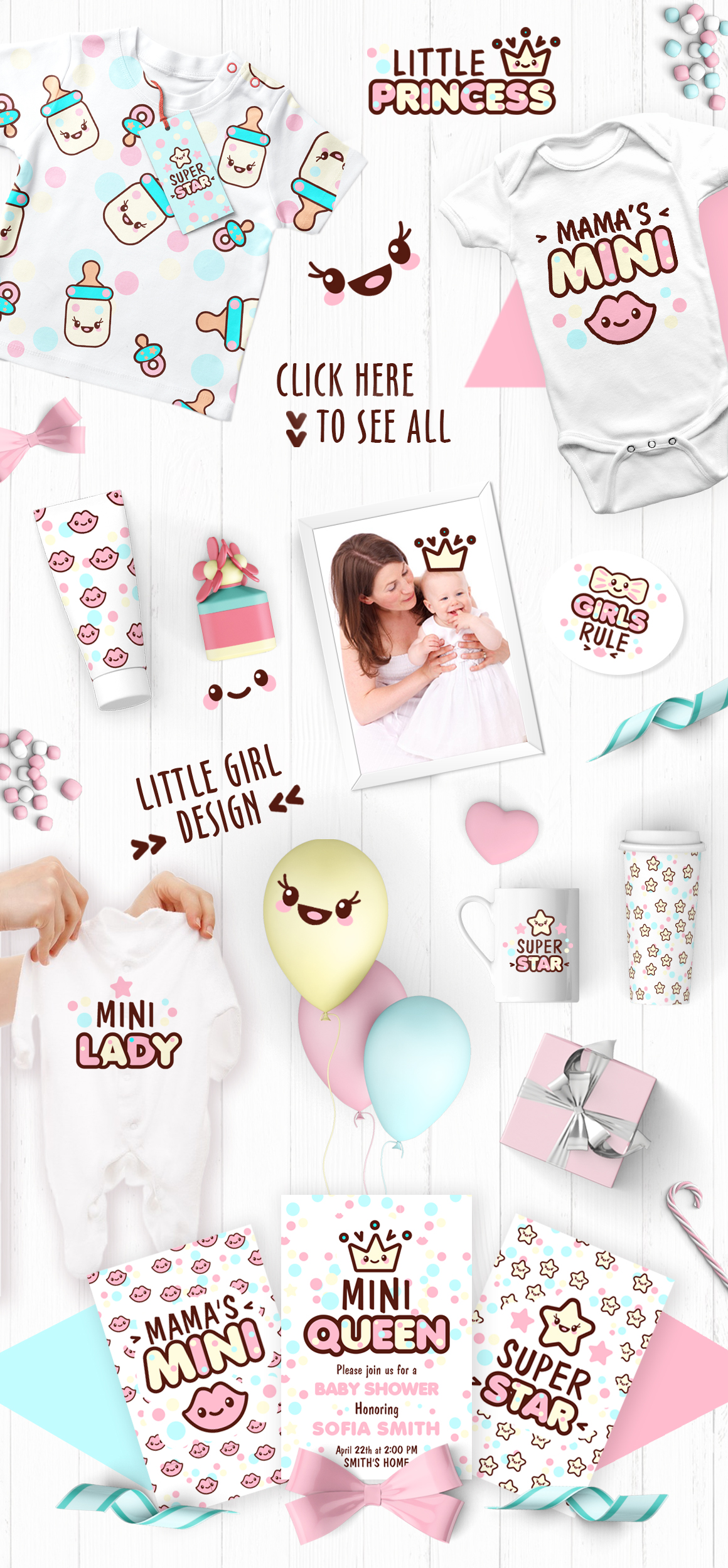 Cute vector prints for baby apparel example image 3