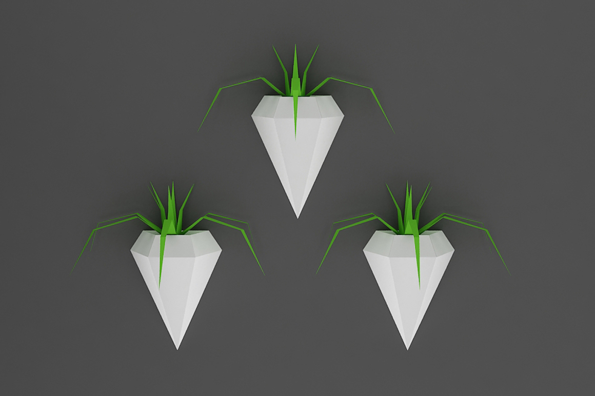 DIY Wall mount Planters - 3d papercraft example image 1