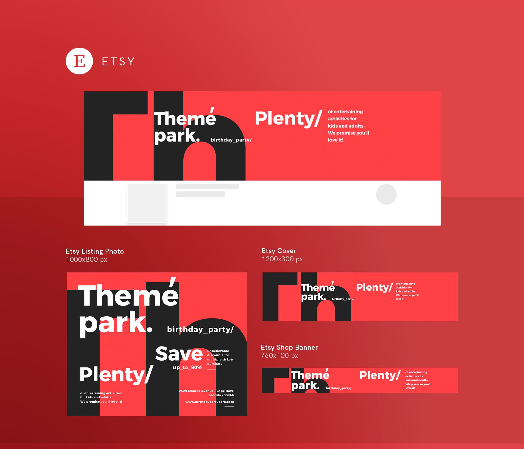 Theme Park Party Entertainment Design Templates Bundle example image 20