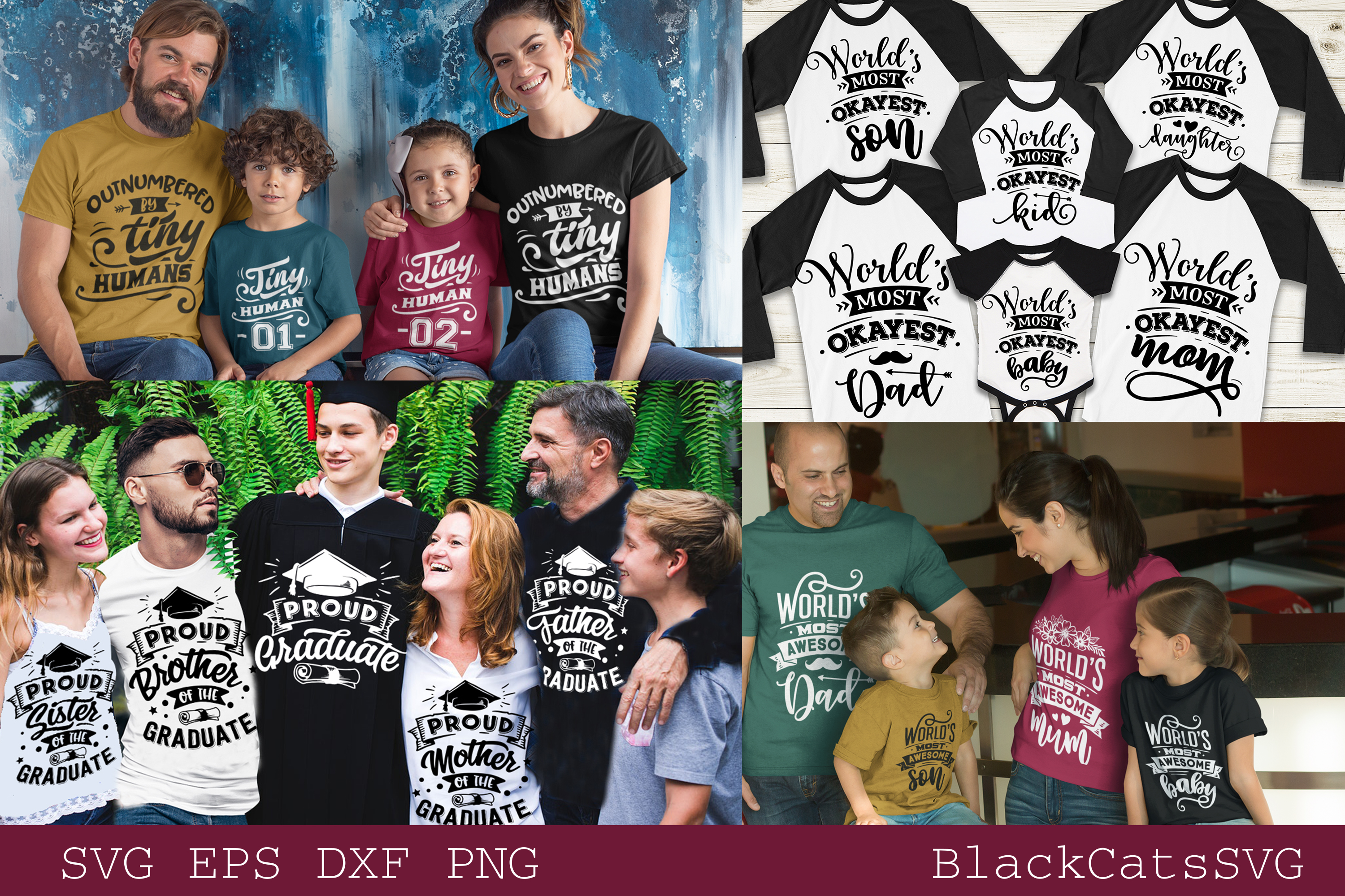 Family matching outfits SVG bundle 50 designs vol 1 example image 2