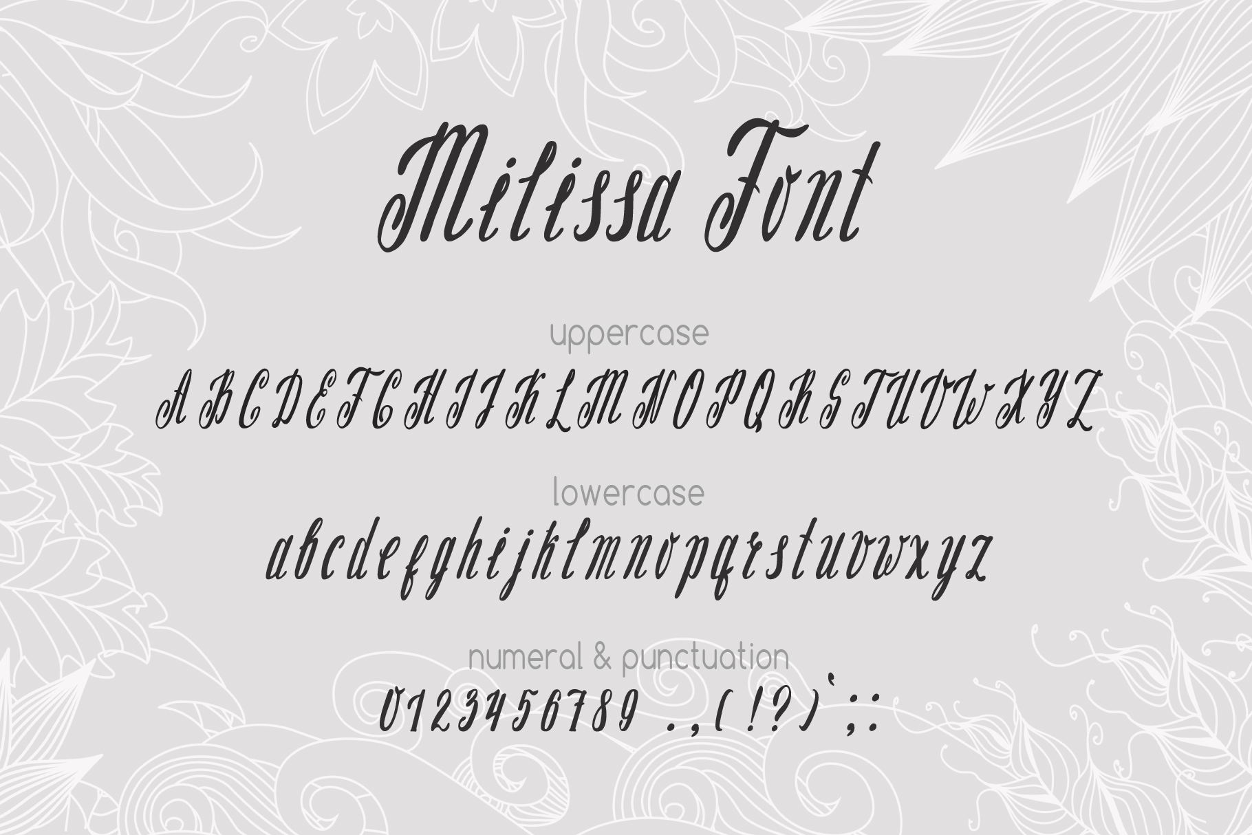 Milissa story script font example image 2