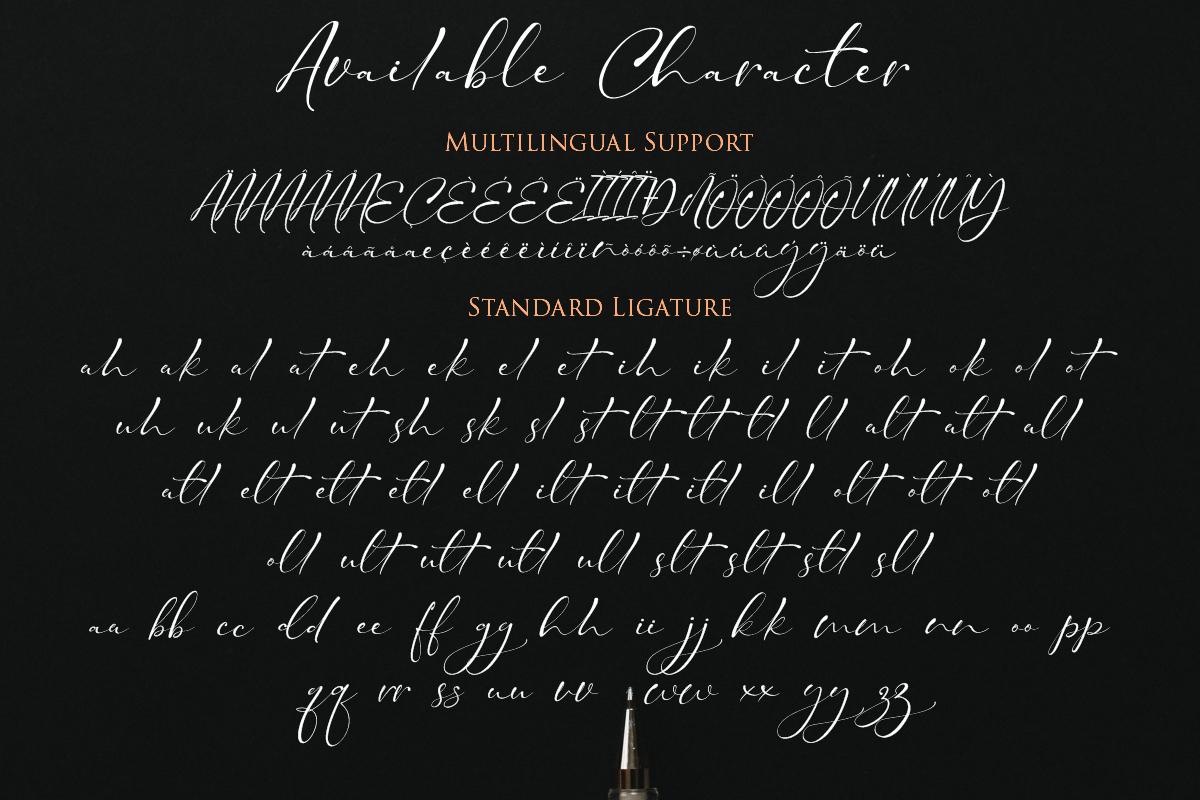 Taman Signature   Stylish Modern Script example image 3