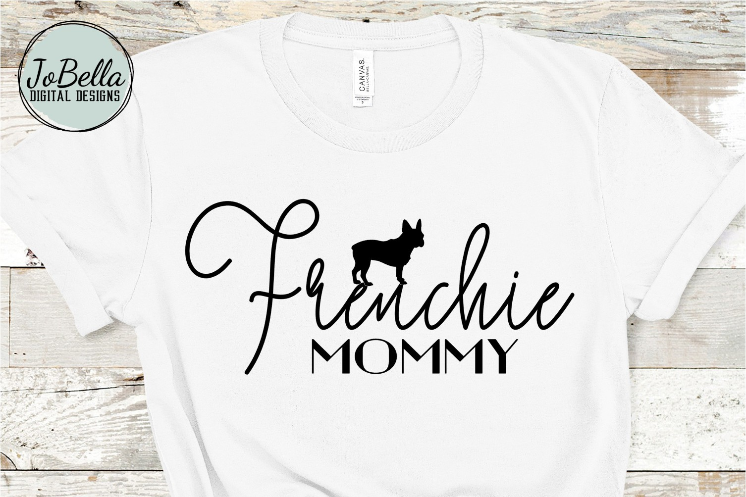 Frenchie Mommy SVG and Printable Dog Lover Design example image 1
