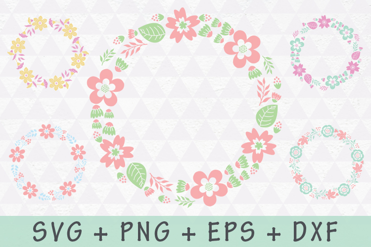 Floral Wreath and Flourishes set example image 1