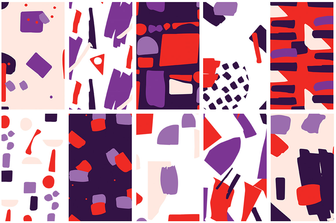 Collage Colorful Patterns example image 5