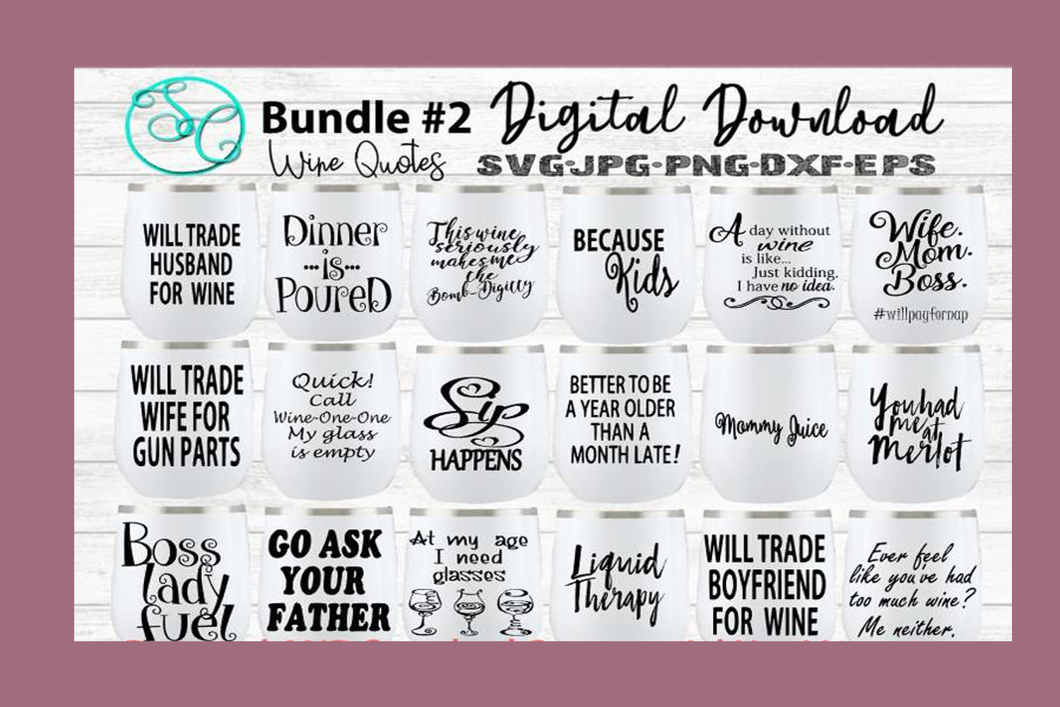 Download Wine Svg Funny Sayings Quotes Bundle 2