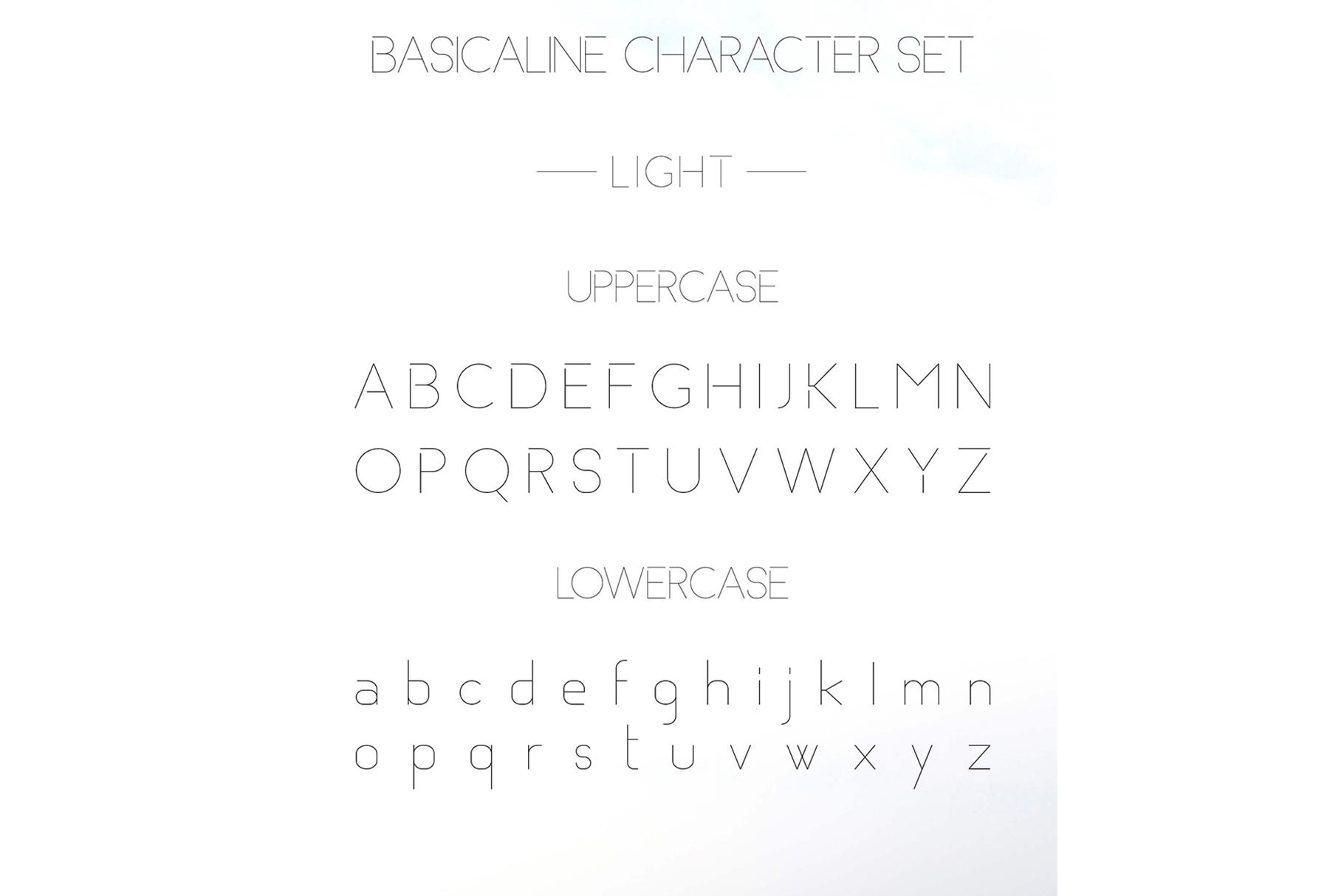 Basicaline Font Family - Sans Serif example image 7