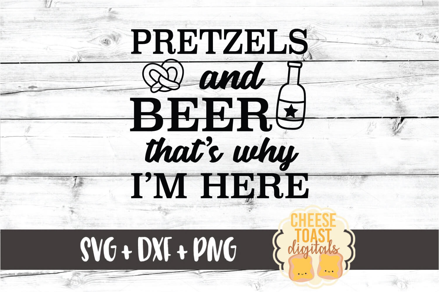 Pretzels and Beer That's Why I'm Here - Oktoberfest SVG File example image 2