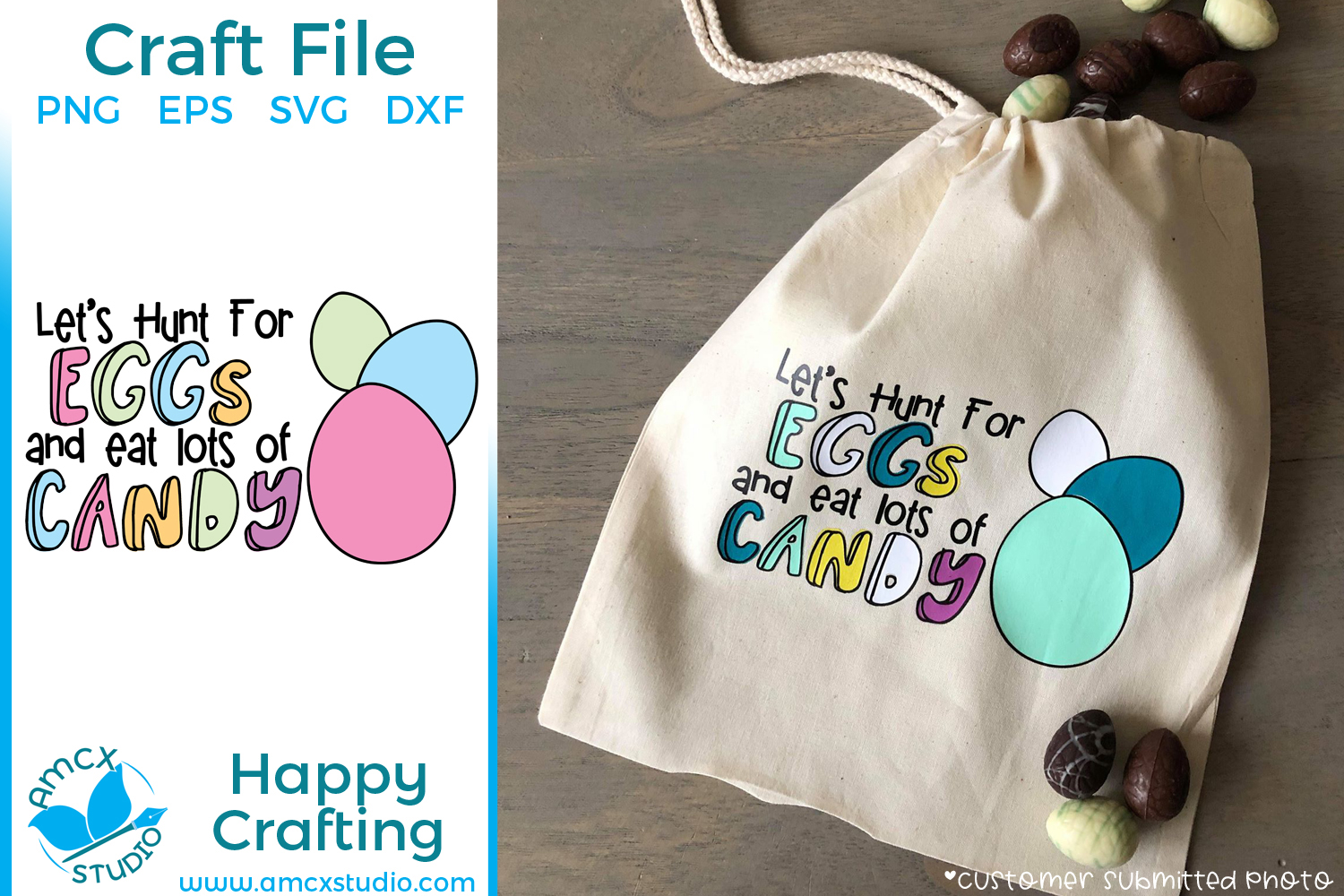 Let's Hunt Eggs - Easter Cut Craft Files example image 1