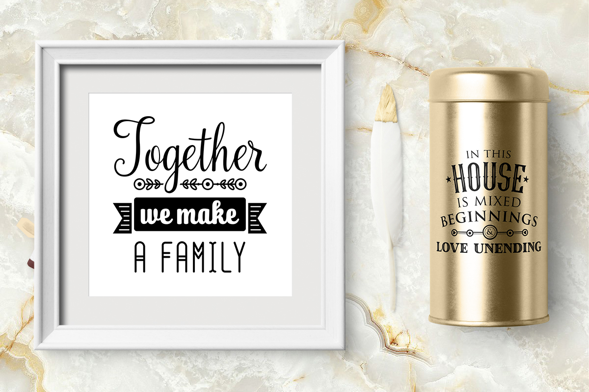 Love Family Quotes. SVG bundle example image 12
