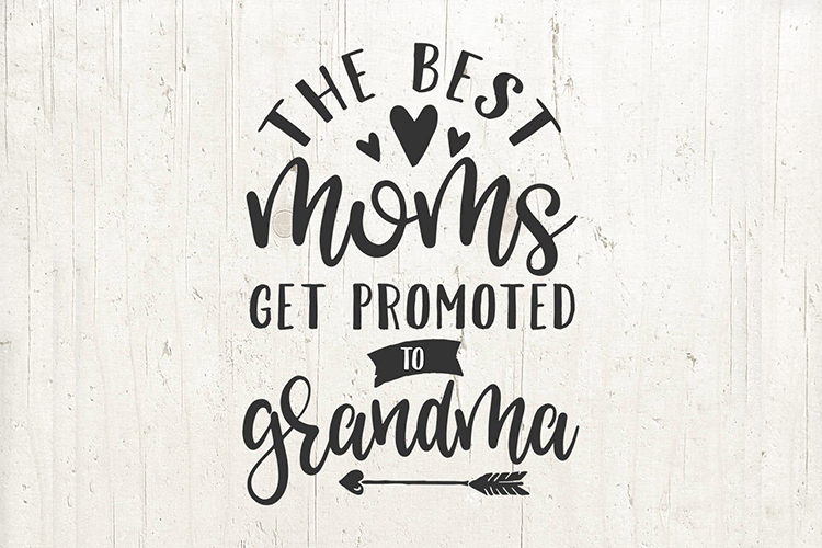 Pregnancy Announcement Best Moms Promoted to Grandma SVG Mom example image 1