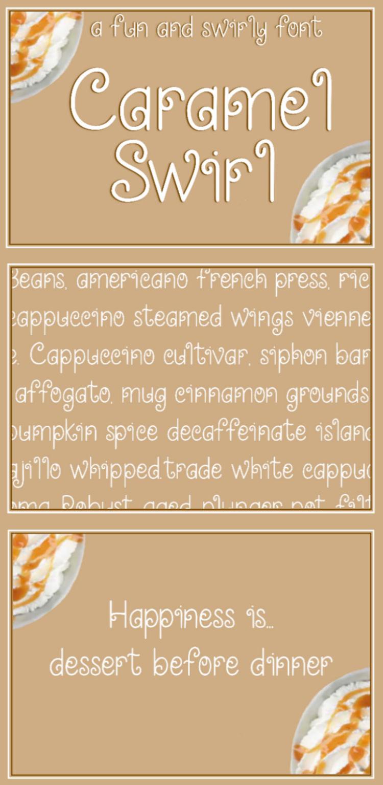 Caramel Swirl - A fun and swirly font example image 7