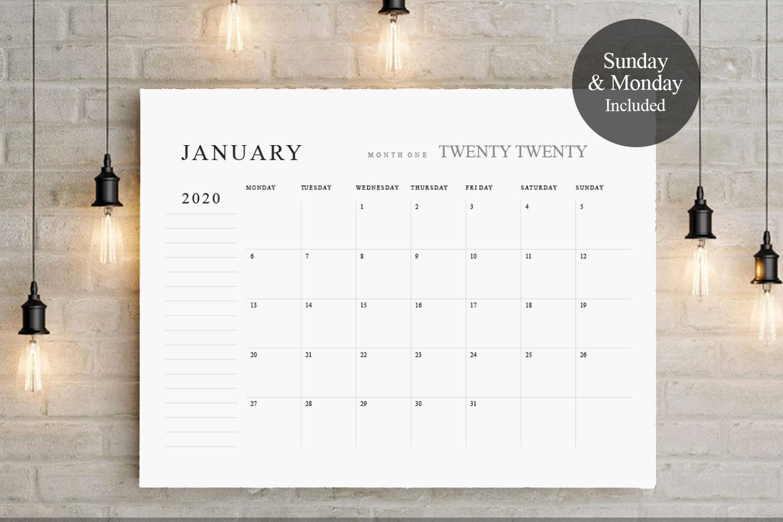 2019 - 2020 Big Calendar TOS_20 example image 1