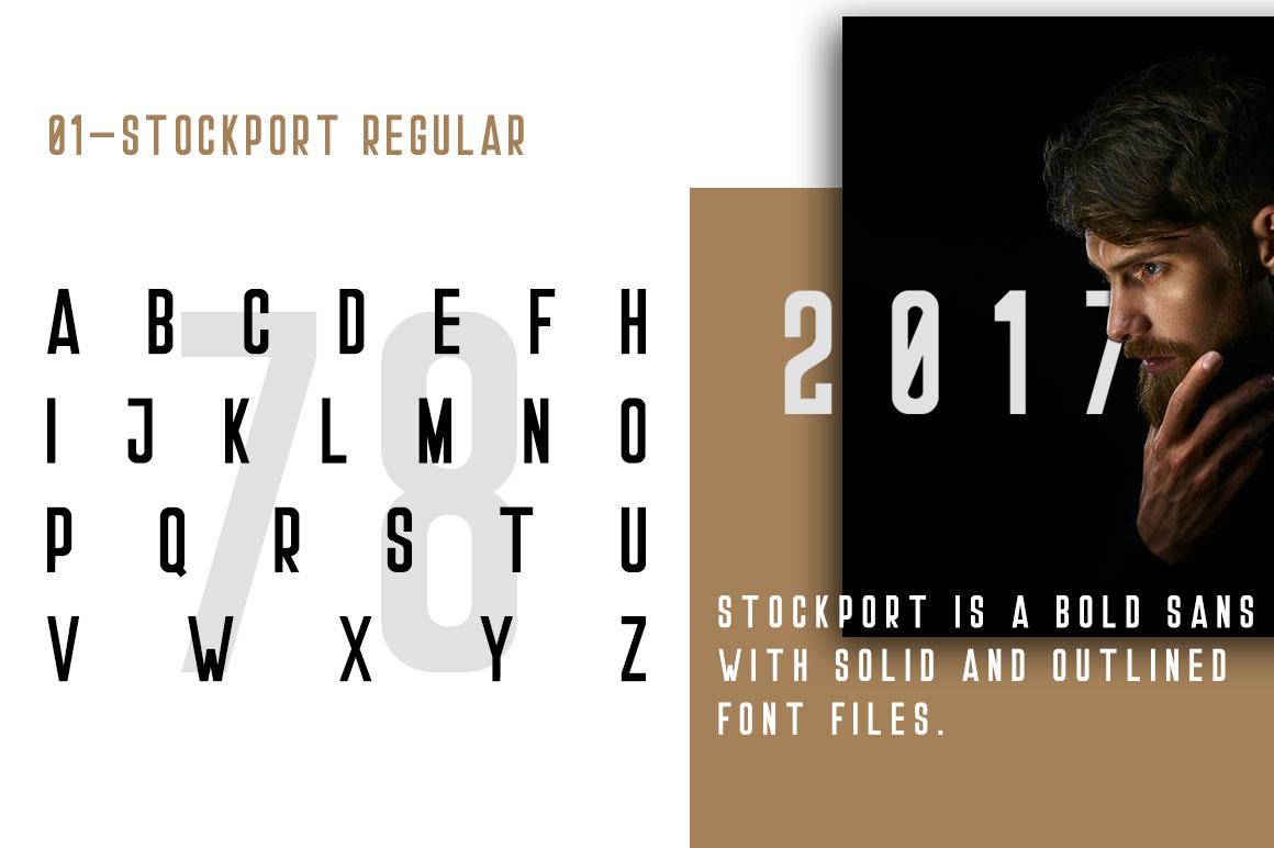 Stockport Font + Bonus Logo example 2