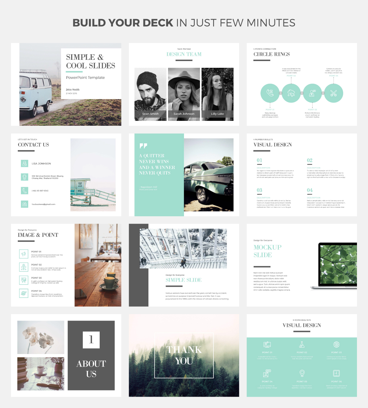 simple  u0026 cool powerpoint template