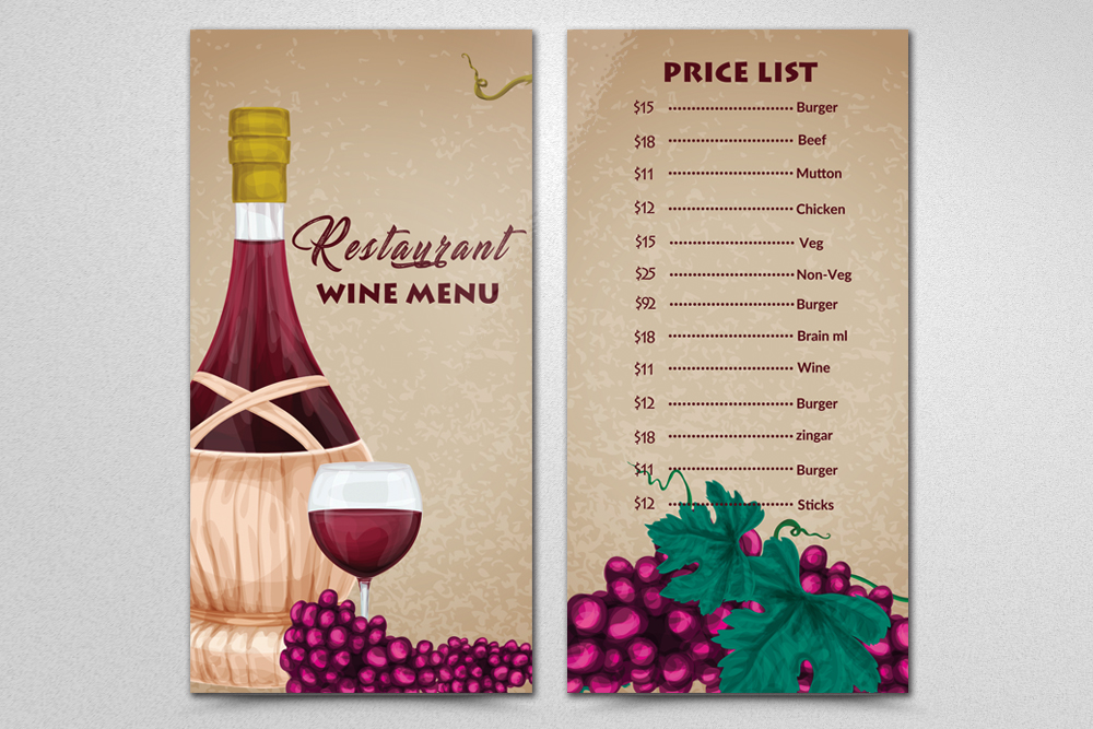 Restaurant Menu Template example image 2