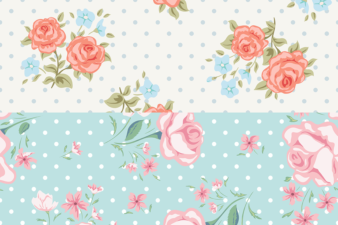 Vintage roses patterns example image 3