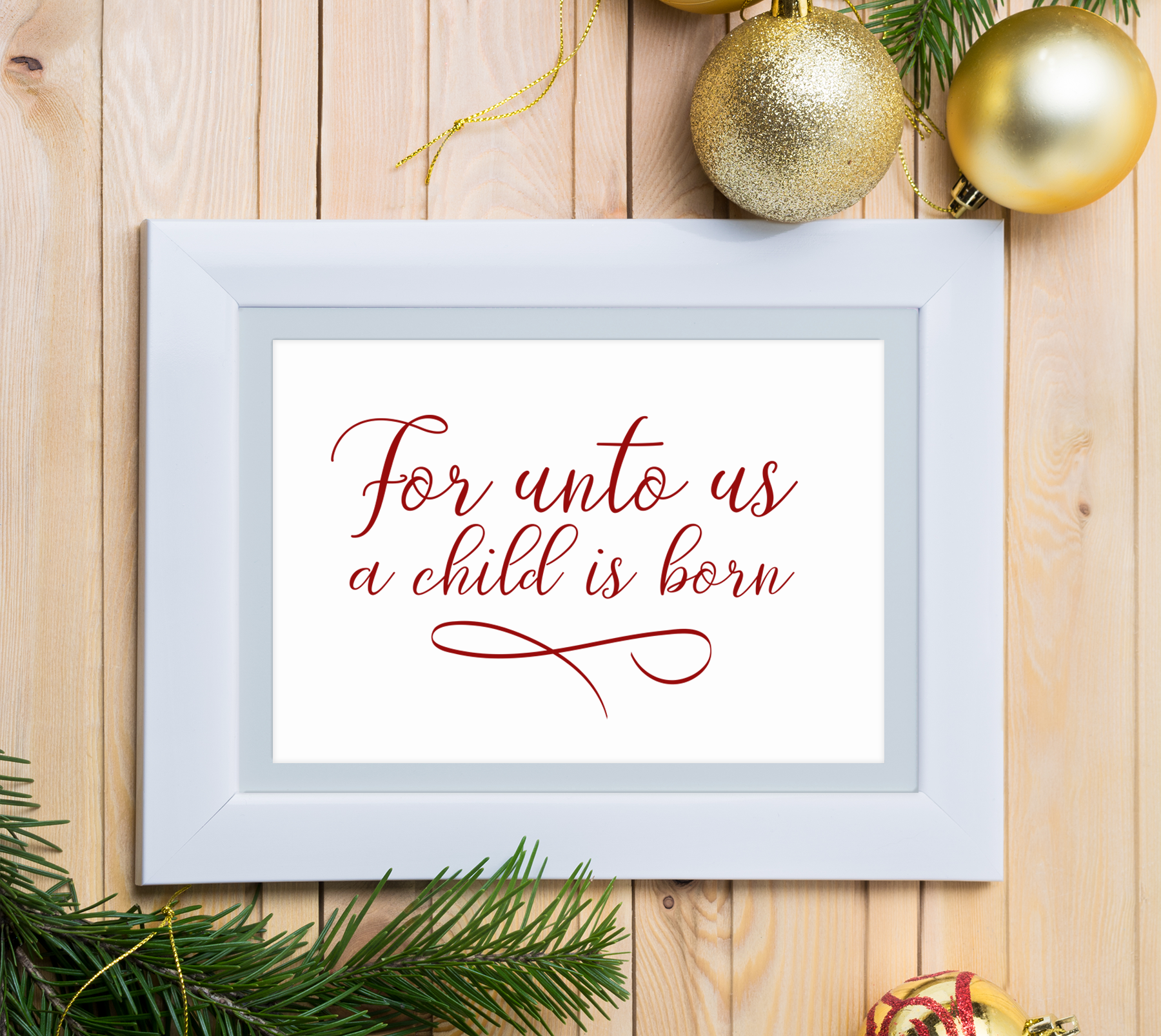 For Unto Us a Child is Born, A Christmas Scripture SVG example image 3