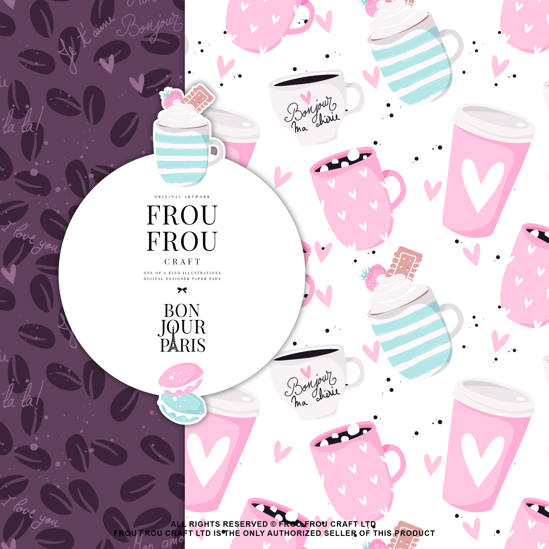 Paris Bakery Sweets Macaroons Cake Paper Pack example image 7
