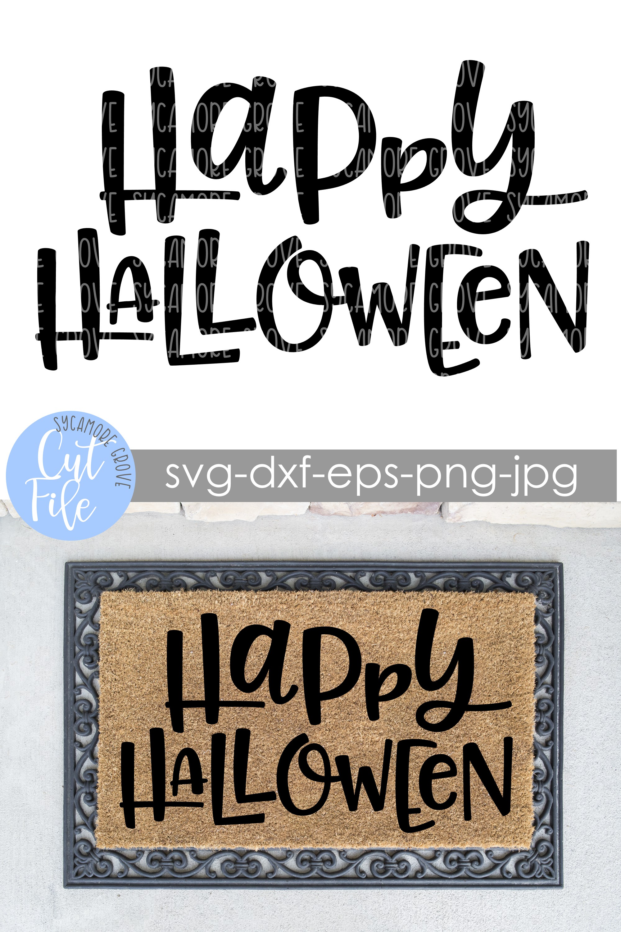 Happy Halloween | Doormat SVG | SVG Cut File example image 3