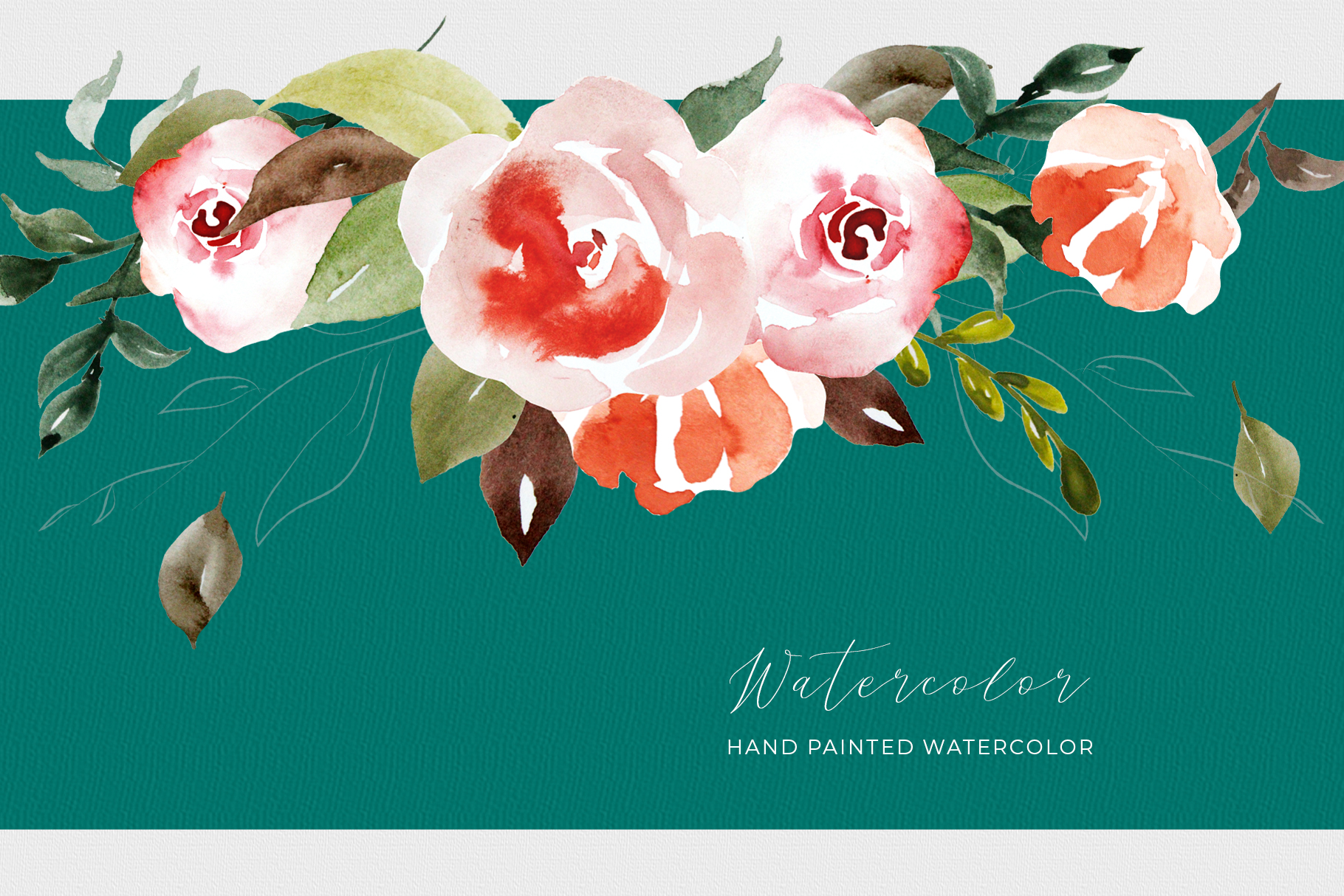 Watercolor Flower Clipart example image 5
