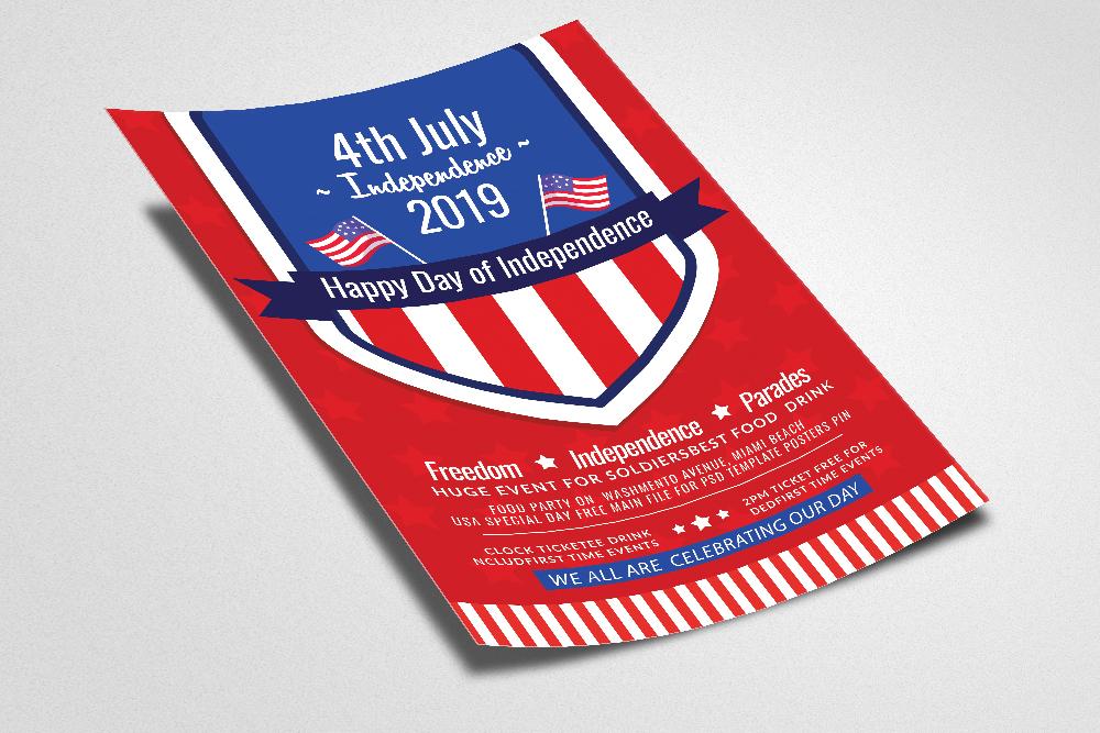 Independence Day Celebration Flyer example image 2
