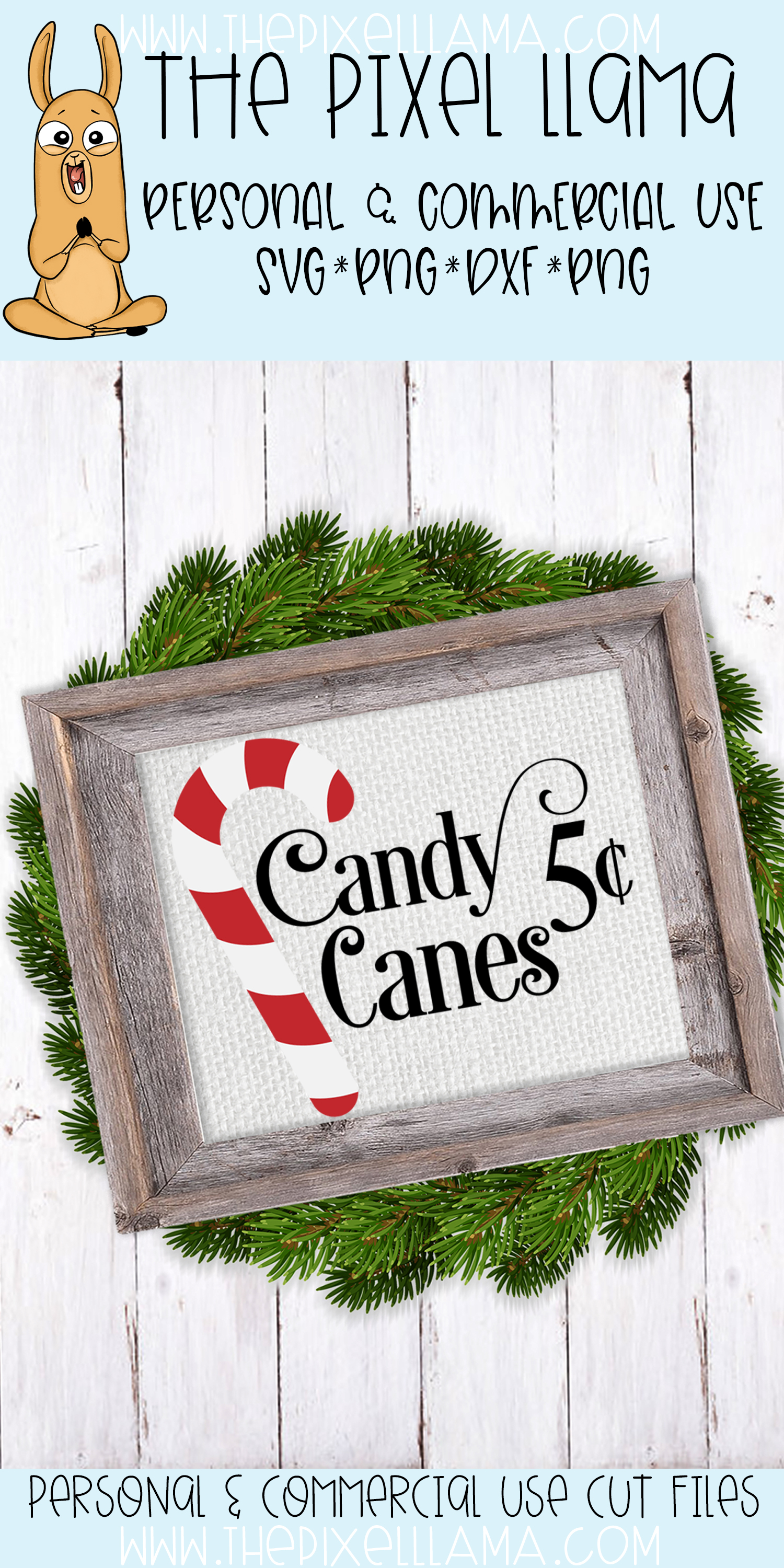 Candy Canes 5 Cents Sign SVG example image 2