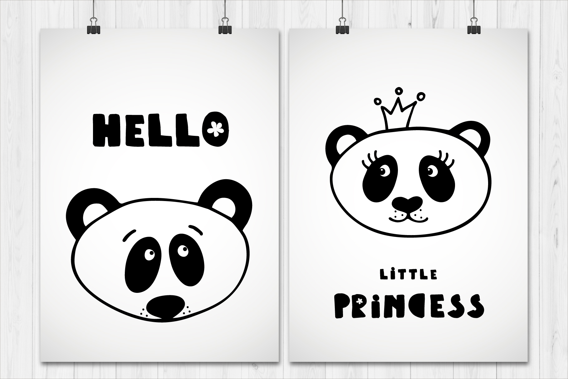 Collection of panda faces. example image 3