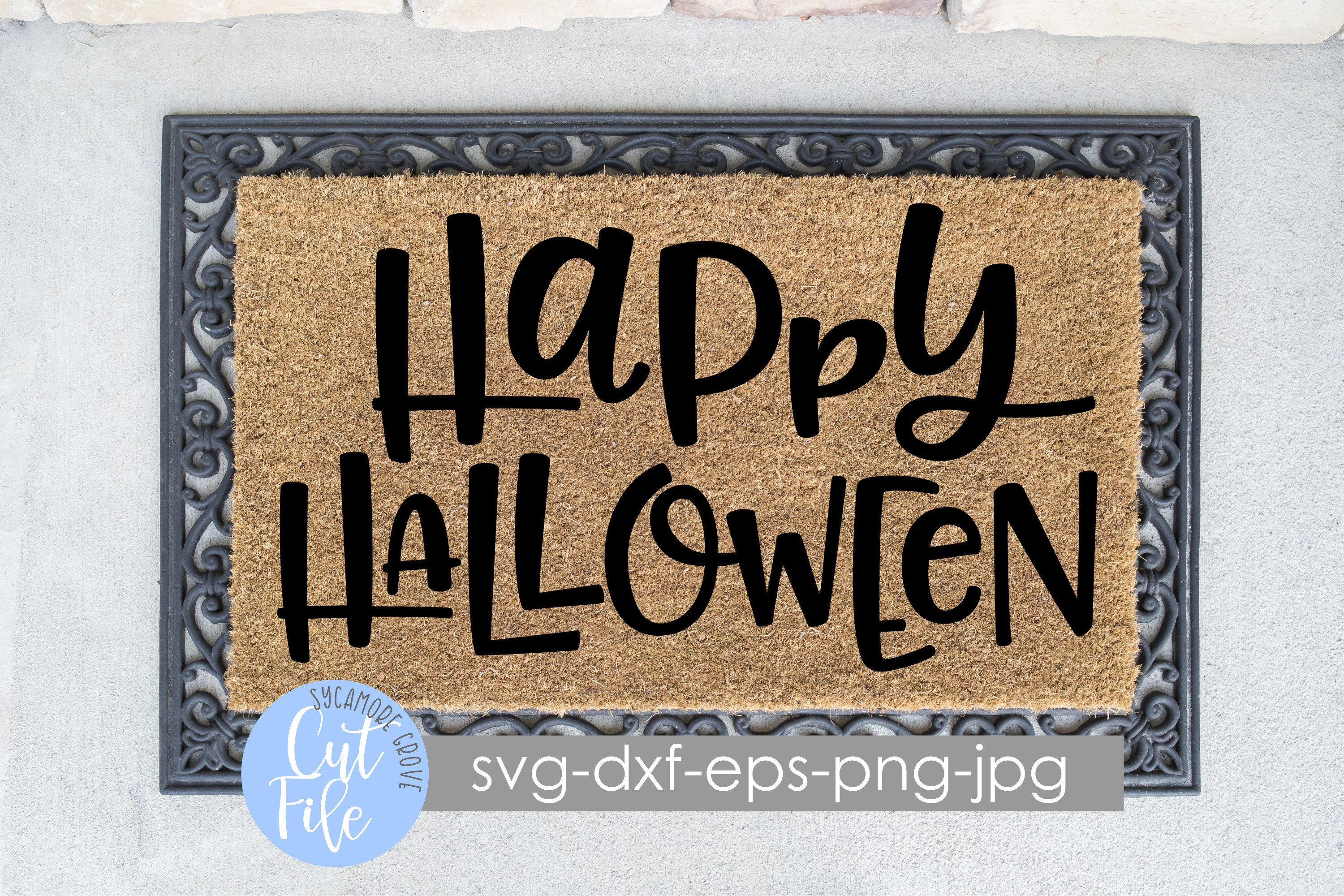 Happy Halloween | Doormat SVG | SVG Cut File example image 1