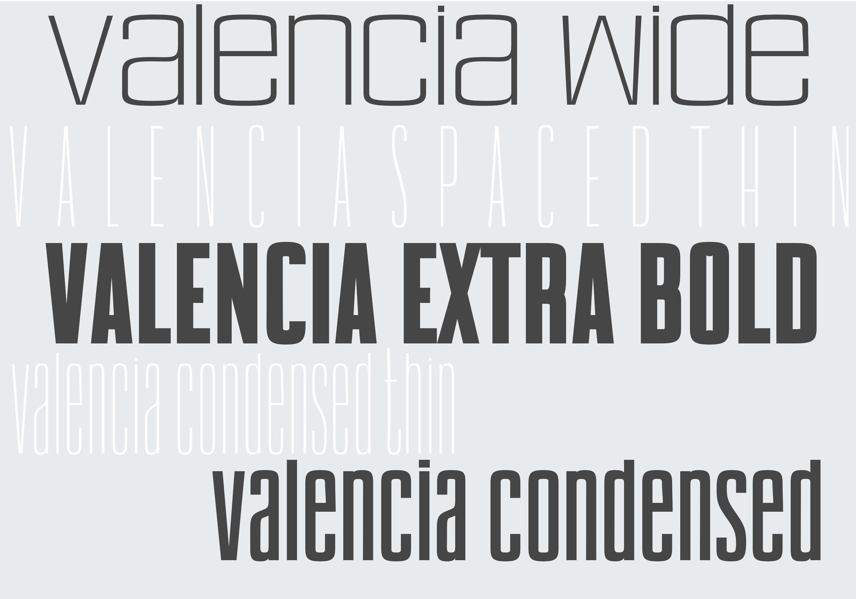 Valencia Font - Sans Serif - 10 Styles example image 2