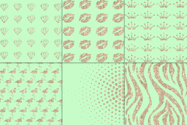 Mint & Copper Digital Paper example image 4