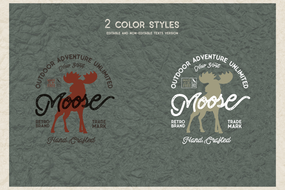 Moose Vintage Label example image 5