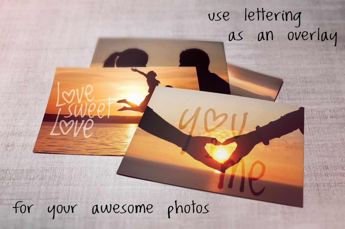 Romantic watercolor set. Love is in the air example image 10