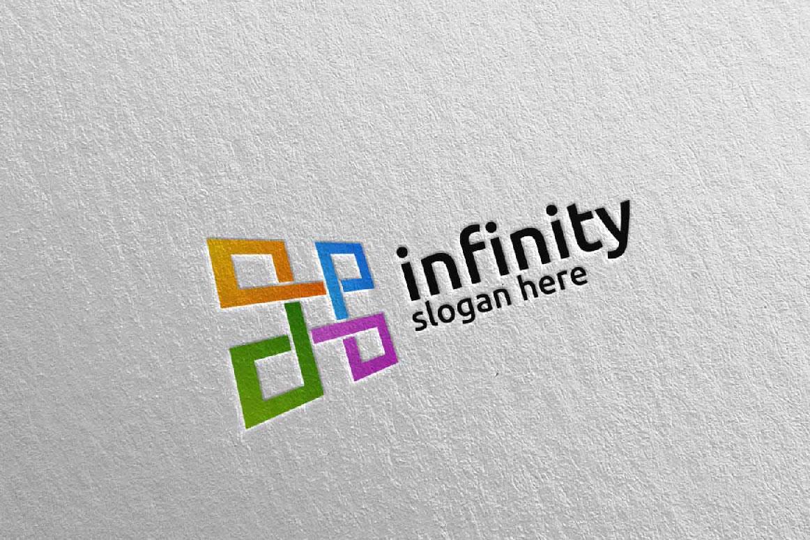 Infinity loop logo Design 25 example image 1