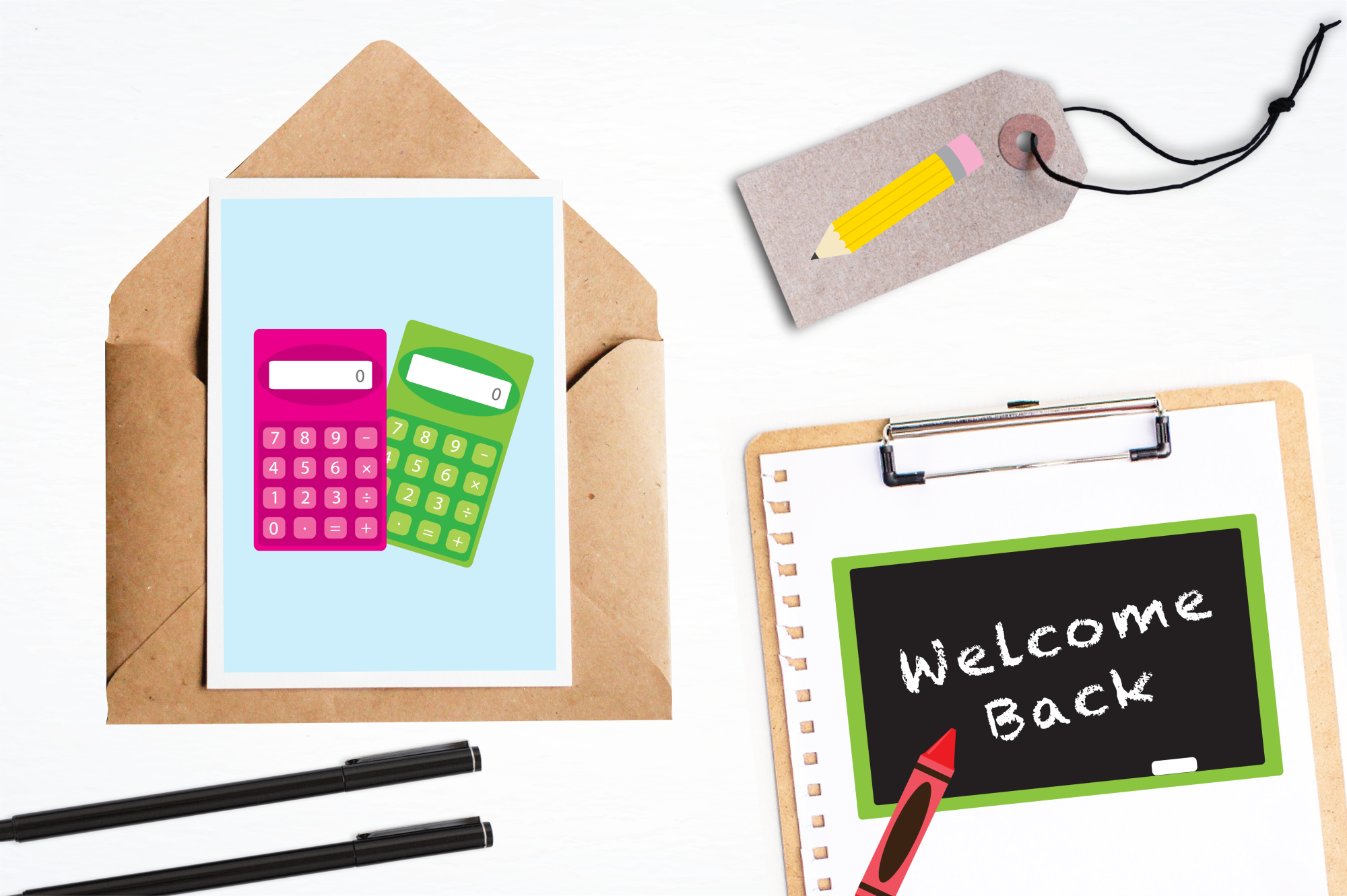 School Supplies graphics and illustrations example image 4