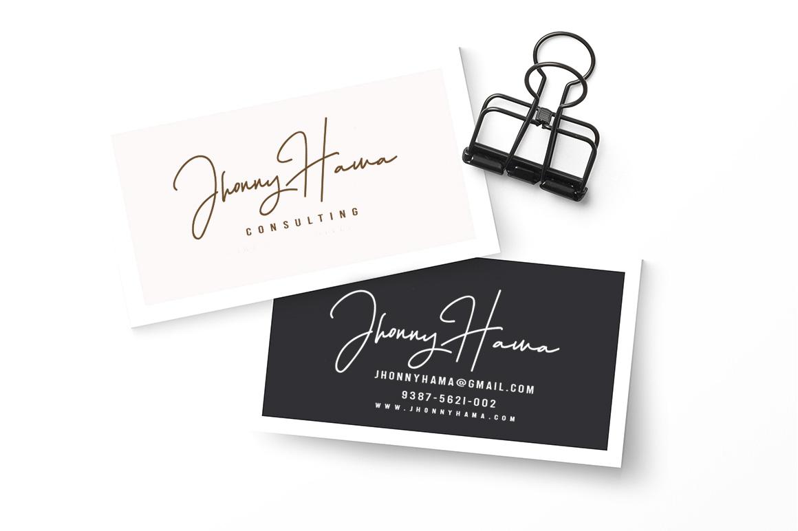 Hellena Jeslyn Signature Font Duo Free Logo example image 14